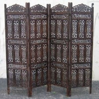 Carved Wooden Screen 4 panel