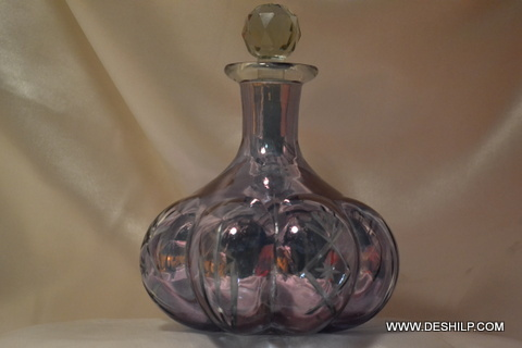 Purple Glass Bottle Perfume Decanter