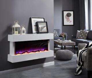 HK50WMII 3 Side Electric Fireplace