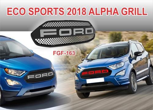 ECO SPORT 2018 ALPHA GRILL (BLACK/CHROME) & (BLACK/RED)