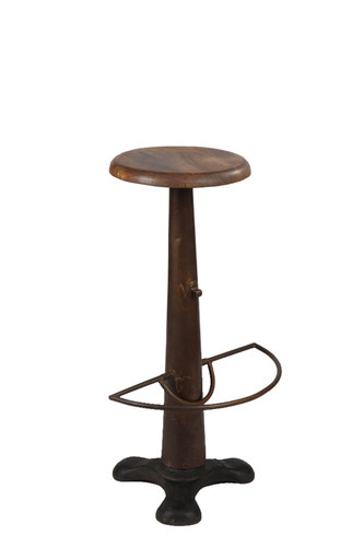 IRON WOODEN ANTIQUE BAR STOOL