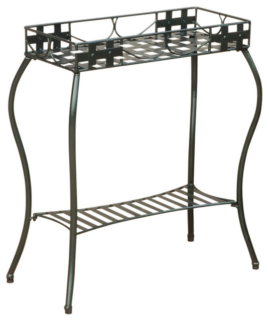 Iron Rectangular Plant Stand