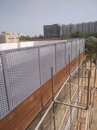 EXPANDED METAL SCREENING FOR FENCES