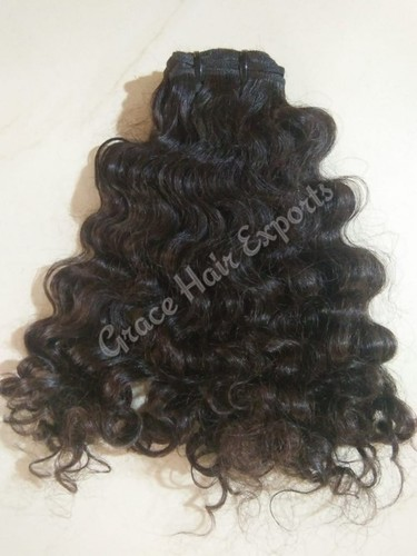 Natural Brown Curly  Hair Extensions