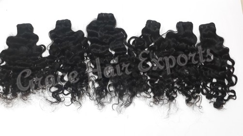 Raw Curly Weft Hairs