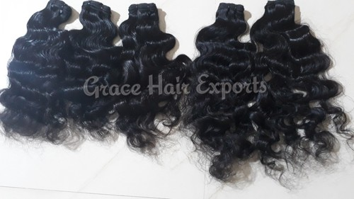 Virgin Black Curly Hair