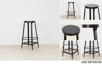IRON ROUND BAR STOOL