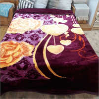 Poly Cotton Printed Mink Blanket