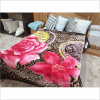 Flower Printed Mink Blanket