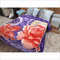 Flower colour Printed Mink Blanket