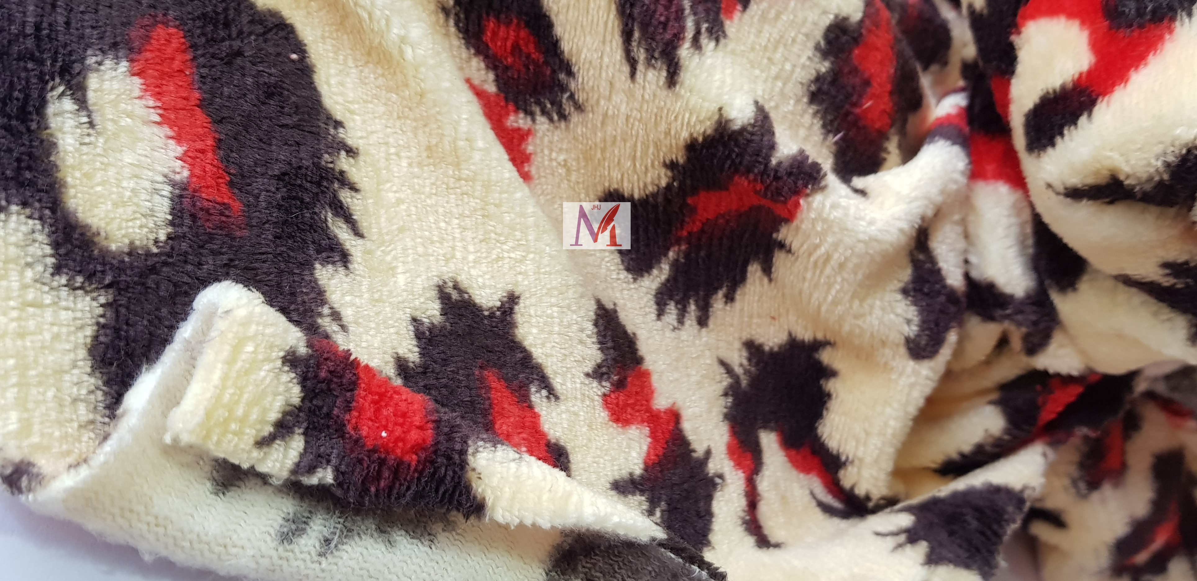 Polyester Printed Coral Fleece Fabric