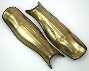 Leather and Metal Greaves