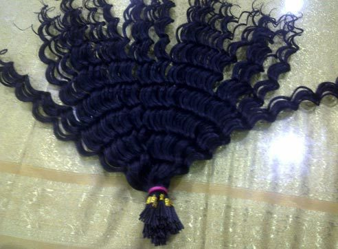 Jet black Tip Hair Extension