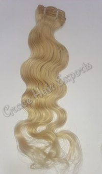 Blonde Body Wavy Weft Hair