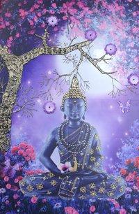 Blue Tree with Buddha Ji Night Vision Tiles