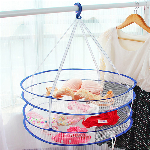Foldable 2 Layer Clothes Drying Basket