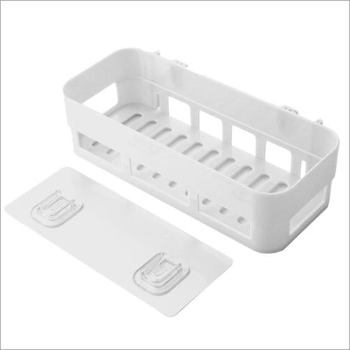 Rectangle Plastic Wall Mounted Bathroom Storage Shelf