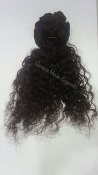 Steamed Curly Weft Hair