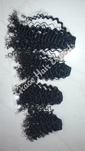 Steamed Kinky Curly Weft Hair