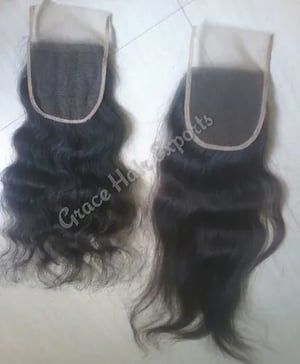 Free part transparent lace closure 4x4 with security fabric