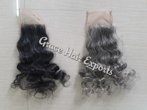 Grey Swiss Lace Closure