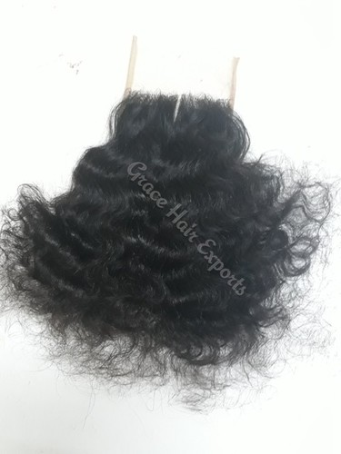 Transparent Curly Lace Closure