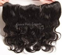Transparent lace body wavy frontal