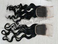 Transparent wavy lace closure