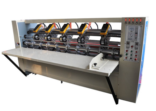 Carton Box Use Thin Blade Slitter Scorer Machine With Automatic Sharpening Blades