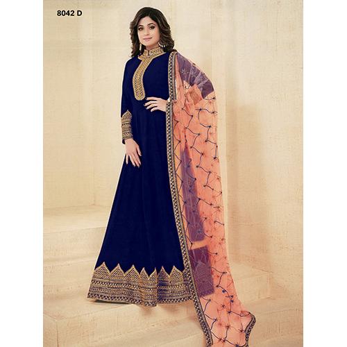 Ladies Floor Length Designer Suit