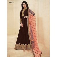 Ladies Floor Length Designer Suit