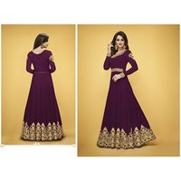 Ladies Party Wear Floor Length Sui