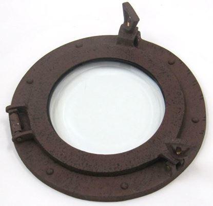 Porthole Glass Aluminum Rust 9 Inch