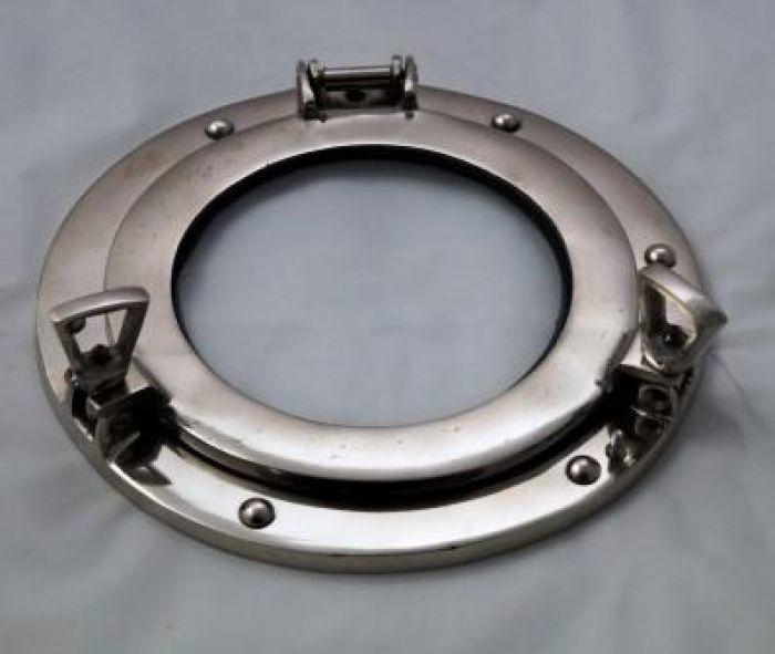 Aluminum Glass Chrome Porthole 9 Inch