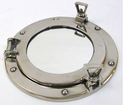 Aluminum Porthole Mirror 9 Inch
