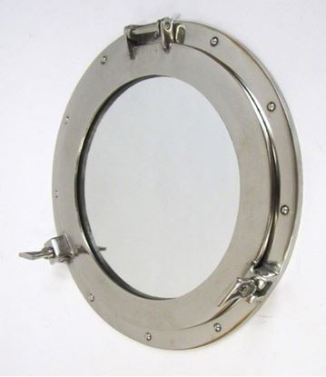 Porthole Mirror Aluminum Chrome 17 Inch