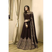 Coffee Color Ladies Traditional Gown
