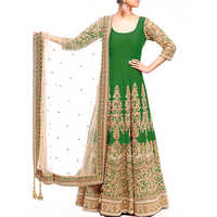 Ladies Silk Bangolori Traditional Gown