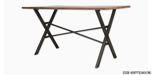 IRON DINING TABLE WITH FOLDING LEGS