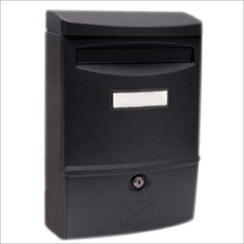 Stylish Black Plastic Letter Box