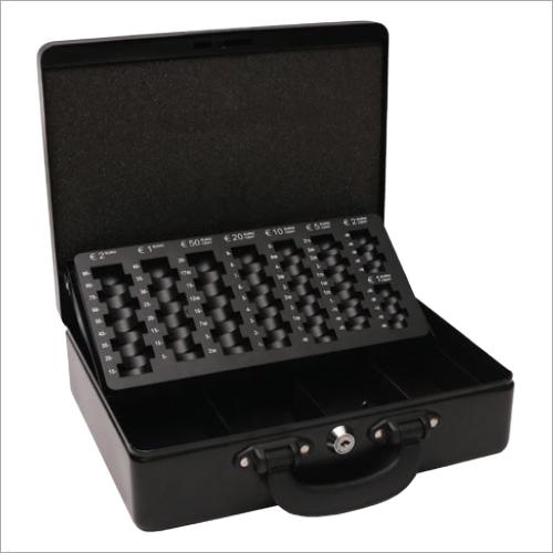 300L x 245W x 90H mm Metal Black Cash Box