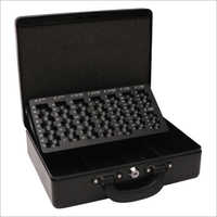 300L x 245W x 90H mm Metal Black Cash Box