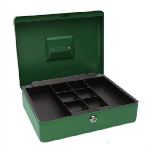 300L x 235W x 90H mm Metal Green Cash Box