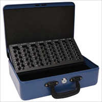 Metal Blue Cash Box (with tray)358L x 273W x 110H mm