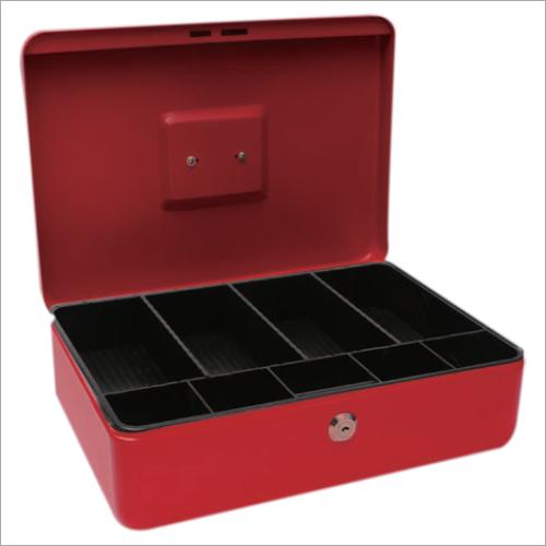 358L x 253W x 110H mm Metal Red Cash Box