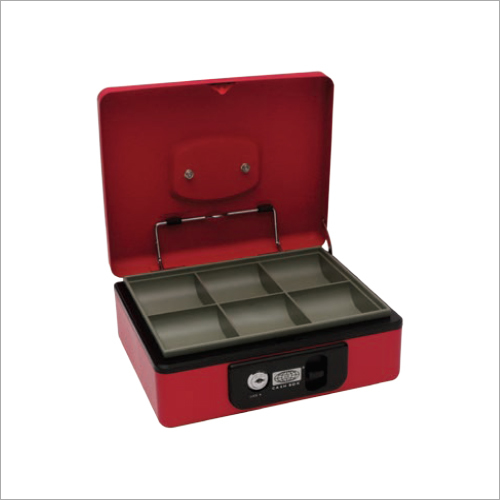230L x 193W x 85H mm Deluxe Red Cash Box