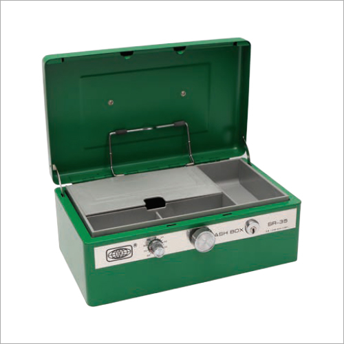 275L x 176W x 118H mm Retro Green Cash Box