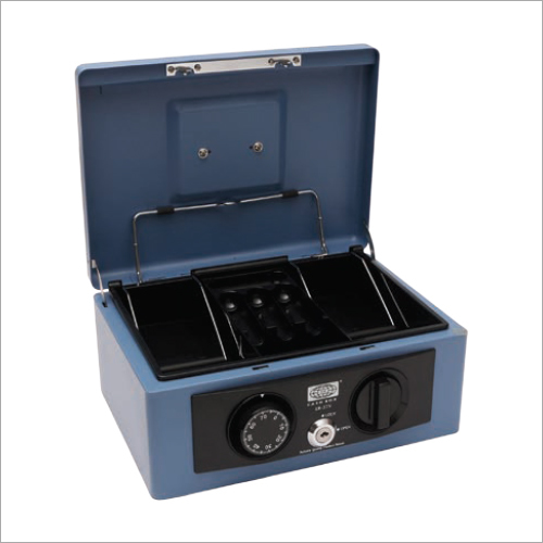 272L x 212W x 119H mm Retro Blue Cash Box