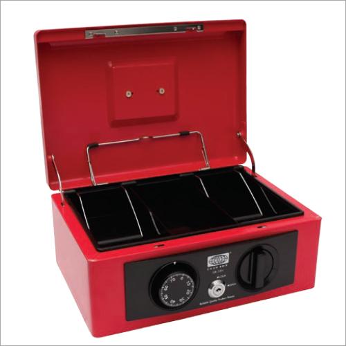 stylish Retro Red Cash Box 215L x 148W x 94H mm