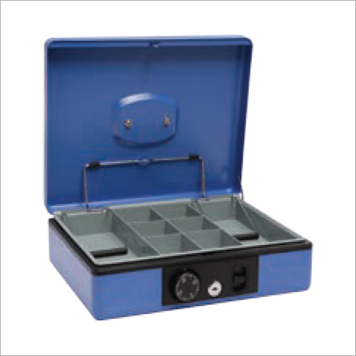 300L x 245W x 88H mm Blue Deluxe Dial Lock Cash Box